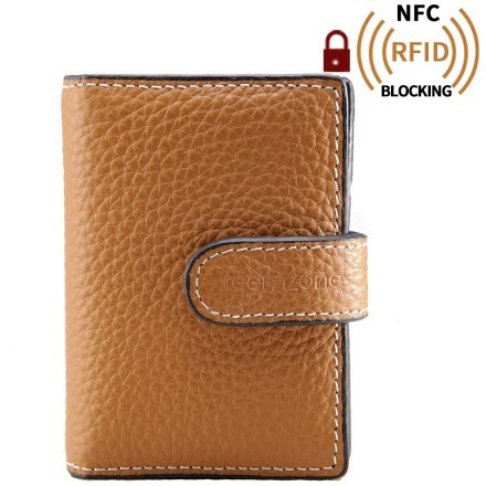 acea8a79ea5e Teemzone Women s Candy Color Genuine Leather Evening Party Clutch Organizer  Wallet