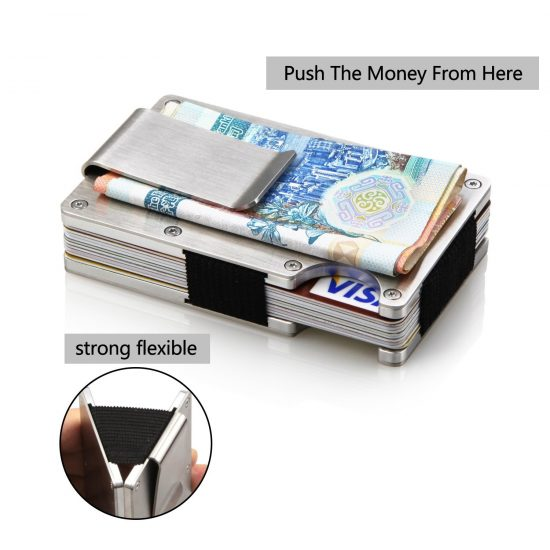 15 best money clip wallet in 2018 business card holder rfid blocking by yelang best front pocket metal wallet with money clip colourmoves