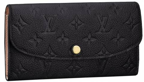 0bcf88f4aba4 Louis Vuitton Monogram Empreinte Leather Emilie Wallet Noir
