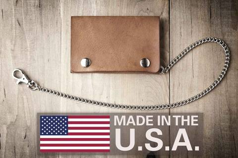 Slim Mens Wallet with Chain (Made in USA by Mr. Lentz) 014 2cc59aefcd40